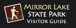 Mirror Lake State Park Visitor's Guide - Baraboo Wisconsin.
